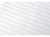 "72"" x 120"" Magnificence™ T-310 White Tone on Tone Stripe Twin Flat Sheets"