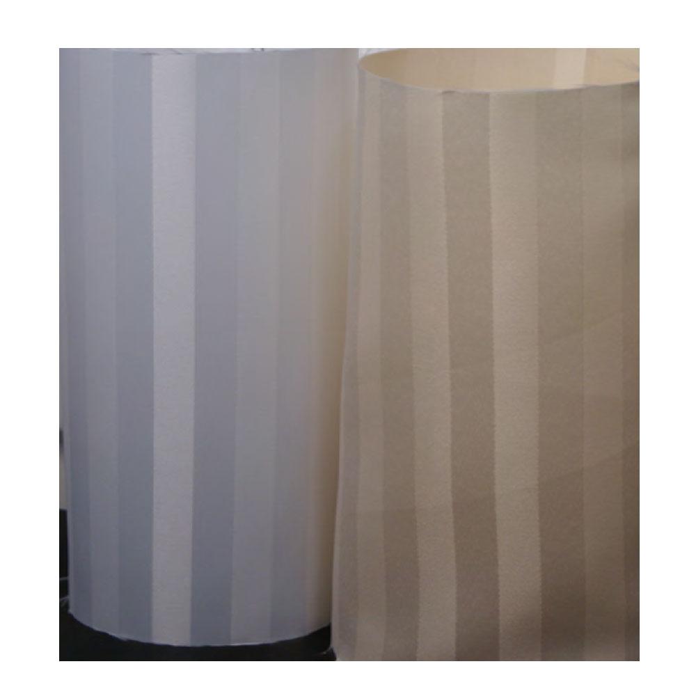 3 39 X 6 39 Satein Woven Stripe Polyester Shower Curtain Beige