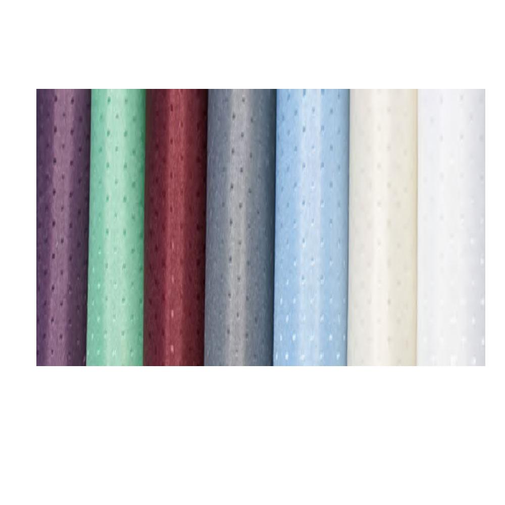 6 39 X 6 39 Dobbie Polyester Shower Curtain White