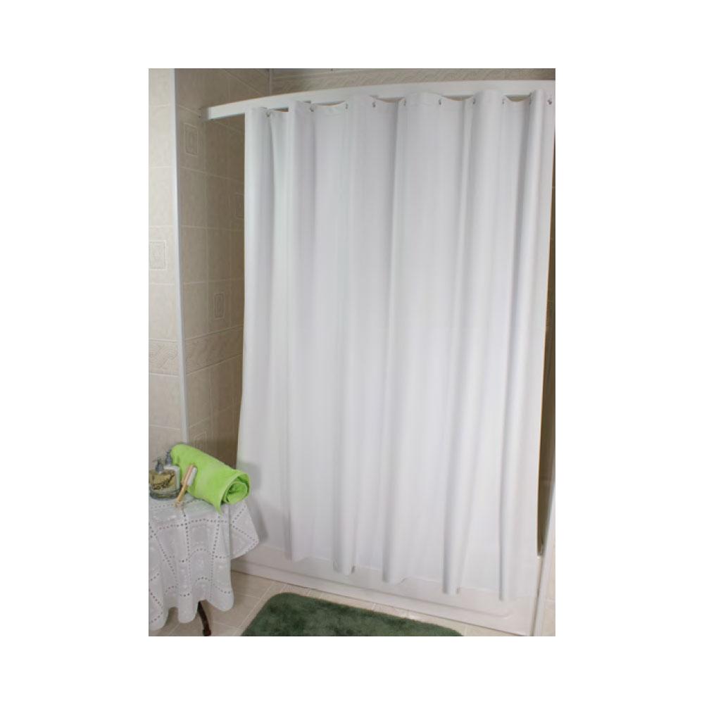 6 X San Suede Executive 10 Gauge Vinyl Shower Curtain White