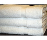 "27"" x 54"" 15.0 lbs. Ganesh Oxford Bellezza Hotel Bath Towel, White"