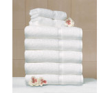 "30"" x 60"" 20 lb. Crown Touch™ White Hotel Bath Sheet"