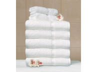 "13"" x 13"" 1.5 lb. Crown Touch™ White Hotel Wash Cloths"