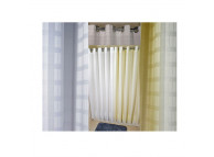 "72"" x 77"" Ezy-Hang Dynasty Shower Curtain with Voile Window and Snap-Away Liner, White"