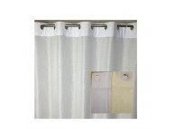 "72"" x 74"" Ezy-Hang Moire Shower Curtain, Beige"