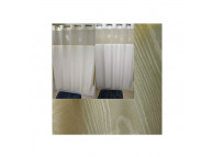 "72"" x 74"" Ezy-Hang Moire Shower Curtain with Voile Window and Snap-Away Liner, Beige"