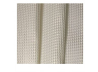 3' x 6' Luxor-Diamond Polyester Shower Curtain, White