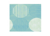 "39"" x 80"" Twin Size Martex RX Box Spring Wrap, Circles and Stripes Aqua"