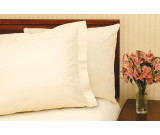 "42"" x 36"" T-180 Bone Standard Percale Pillow Cases"