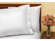 "90"" x 120"" T-180 White Queen Flat XXL Percale Sheets"