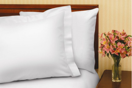 "39"" x 75"" x 12"" T-180 White Twin Fitted XD Percale Fitted Sheets"