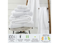 "22"" x 34"" Sweet South™ 10 lb. Hotel Bath Mats, White"