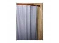 6' x 6' Swirl 8 Gauge Vinyl Shower Curtain, Blue