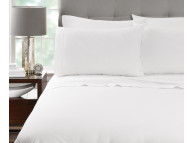 "60"" x 80"" x 9"" T-200 Millennium Queen White 60/40 Percale Fitted Sheets"