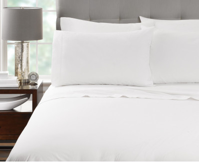 "44"" x 45"" T-200 Millennium King White 60/40 Percale Pillow Cases"