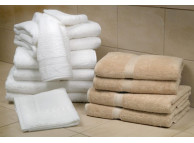 "27"" x 54"" Natural Linen 16 lb. Magnificence™ Hotel Bath Towel"