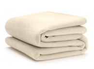 "90"" x 90"" Queen Size Vellux Blanket Ivory"