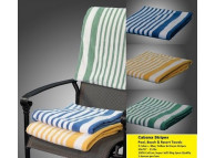 "30"" x 70"" Cabana Tropical Stripe Pool Towels, Yellow/White (per dozen)"