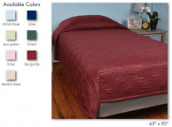 "Berkshire CozyCare Bedspread, 65"" x 95"" Hospital Twin Fitted"