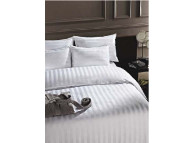"86"" x 93"" Ganesh Duvet Cover, 1.98 cf, Tone on Tone Stripe, Full Size"