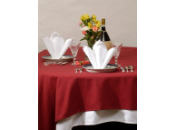 "71"" x 71"" Cotton Craft Dynasty Tablecloths,  7.2 oz, White, Per Dozen"