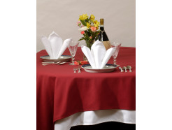 "120"" Round Cotton Craft Dynasty Tablecloths,  7.2 oz, Black, Per Dozen"