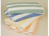 "30"" x 60"" Fibertone™ Cabana Stripe Pool Towels, 13 lb, Grey"