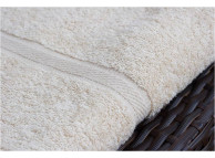 "27"" x 50"" 13.55 lb. Oxford Imperiale Hotel Bath Towel, Dyed Bone"