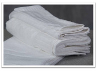 "13"" x 13"" 1.5 lb. Oxford Signature White Hotel Wash Cloths"