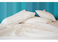 "90"" x 120"" T-200 White 60/40 Queen XXL Size Percale Sheets"