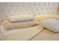 "60"" x 80"" x 12"" T-200 Bone 60/40 Percale Fitted Sheets"
