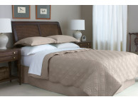 "90"" x 90"" Martex Suites Staybright Diamond Quilted Coverlet, Full/Queen Size, Silver Mink"