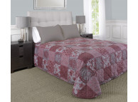 "100"" x 118"" Martex Rx Bedspread, Queen Size, Madeline Berry Silver"