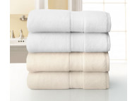 "30"" x 56"" 18 lbs. Grand Patrician Suites Hotel Bath Towel, White"