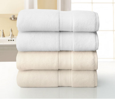 "16"" x 28"" 5.2 lbs. Grand Patrician Suites Hotel Hand Towel, White"