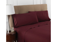 "90"" x 104"" T-200 Martex Colors, Queen Flat Sheets, Burgundy"