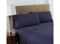 "39"" X 75"" X 12"" T-200 Martex Colors, Twin Fitted Sheets, Navy"