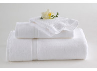 "30"" x 56"" 18 lb. White Martex Five Star Bath Towels"