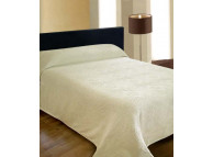 "120"" x 116"" Medallion Bedspread, King Size - White"