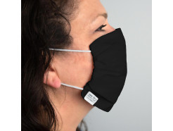 Martex Washable, Reusable Face Mask with Antimicrobial Technologies, Black, Priced Each, Sold by Case of 100