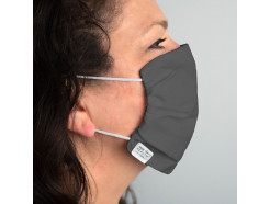 Martex Washable, Reusable Face Mask with Antimicrobial Technologies, Gray, Priced Each, Sold by Case of 100