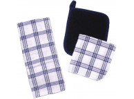 "15"" x 24"" Ritz Value Basic Checked Terry Kitchen Towel, Cotton"