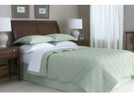 "66"" x 86"" Martex Suites Staybright Diamond Quilted Coverlet, Twin Size, Desert Sage"
