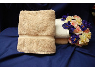 "16"" x 30"" 4.5 lbs. Royal Suite Beige Hotel Hand Towel"